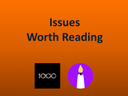 10/23/20 Recommended issues: Death Tech & First 1k Customers
