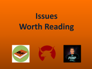 6/11/21 Recommended Issues: Degrees of Difficulty, Bitcoin, Sage Thoughts