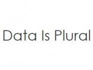 Data is Plural, by Jeremy Singer-Vine